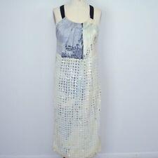 No Dress Code Tony Cohen Maxi Dress S/M Abstact Print Paillette Sequins S24