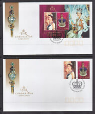 2003 CORONATION OF JUBILEE SET AND M/S ON 2  FDCs