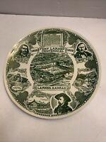 RARE Fort Larned Centennial Ceramic Plate Kansas Military George A. Custer 1959