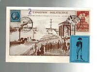 1948 France Postcard Cover # B203  Maxi Card 2nd Philatelic Expo Overprint