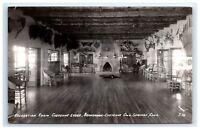 Postcard Recreation Room, Cheyenne Lodge, Colorado Springs, CO RPPC H13