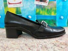 Sole By Aerosoles Womens Size 6 M Black Leather Horsebit Pumps Loafers Shoes