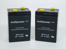 2 x Multipower MP4.5-6  6V 4,5 Ah   Blei-AKKU   **NEU mit Rechnung**