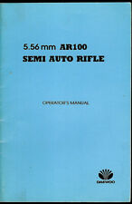 Daewoo AR 100 5.56 Semi Auto Rifle Original Factory Owner's Manual Parts List