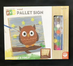 Mindware Paint Your Own Wood Pallet Sign Paint & Display NEW