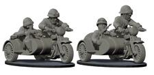 "WWII France 1940 ""Sidecar armée française"" 1/72°  3D résine"