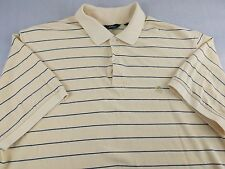 Brooks Brothers Polo Shirt Large L Yellow Striped LOGO