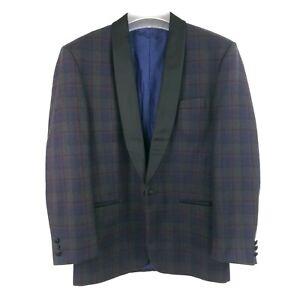 Men's SIR Navy 100% Wool Jacket Blazer Tuxedo Tailor Smoking Size 50