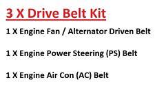 Isuzu KB Pick Up 2.8TD TFS55 Import Engine Fan/Alternator+AC+PS Drive Belts 93+