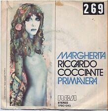 """RICCARDO COCCIANTE - Margherita - VINYL 7"""" 45 LP 1976 VG+/VG- CONDITION"""