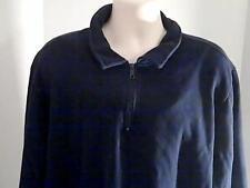 Croft and Barrow Mens XXL Blue Sweat Shirt Cotton Polyester