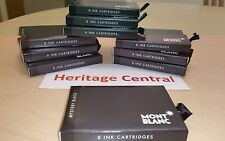 Mont Blanc 105191 Mystery Black Ink Cartridges 8 Pack Fountain Pen