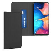 Handy Hülle für Samsung Galaxy A20e Tasche Wallet Klapptasche Vintage Schwarz