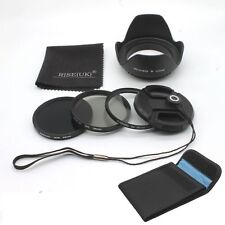 RISE(UK) 58mm UV CPL ND8 Filter Kit + Lens Hood for DSLR SLR Canon Rebel 18-55mm