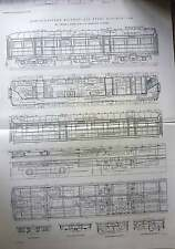 1915 North Eastern Railway, All Steel Kitchen Car Profile Plan