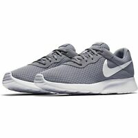 Nike Tanjun Running Shoes Wolf Gray White 812654-010 Men's NWOB