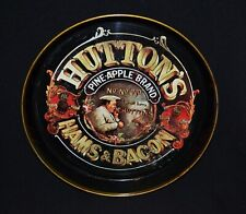 Huttons Hams & Bacon Pineapple Brand Metal Tin Vintage