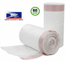 Ccliners 4 Drawstring Gallon Small Trash Bags 0.7 Mil, 60 Count