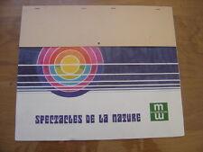 1976 calendrier MUTUELLES DU MANS spectacles de la nature
