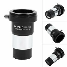 "New 1.25"" 2X Barlow Lens Multi-coated Metal for Telescope Eyepiece Astronomy"