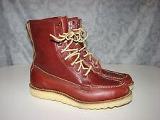 Very Rare vintage LL Bean Moc Toe Crepe sole Leather boots Mens 8 M