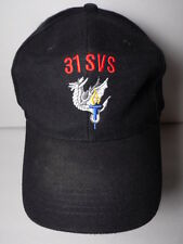 Vintage 1990s 31 SVS Military Dragon Torch Advertising Logo SNAPBACK HAT CAP