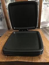 """1 Ikea Sweden Square Dinner Plate Charmor Black 10"""""""