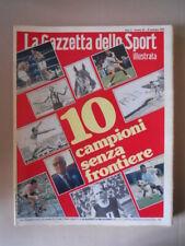 Gazzetta Sport Illustrata 45 1979 10 campioni senza frontiere [G52C]