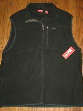 NEW mens black Izod XL fleece vest full zip