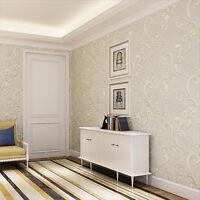 New Hot 10m Non-woven Wallpaper European Simple Style Flocking Wallpaper Rolls
