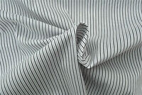 WHITE & GREY SHIRTING FINE STRIPE LUXURY COTTON MADE IN ITALY FOR HUGO BOSS A16