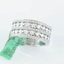 NYJEWEL 18k Solid White Gold New 2ct Diamond Engagement Wedding Band Ring $6950