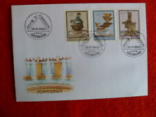 LUXEMBOURG FOUNTAINS STAMPS  FDC 24TH 9 1990 3 STAMPS