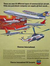 9/1972 PUB CHEVRON OIL JAPAN AIR LINES NORTHWEST LUFTHANSA BOEING 747 DC-10 AD