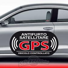 2 ADESIVI ANTIFURTO stickers - GPS - VETRO INTERNO auto  FORD #03