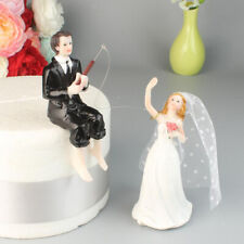 Wedding Resin Groom Catches The Bride Figurine Cake Stand Topper Accessories