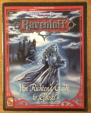 Advanced Dungeons & Dragons Tsr 9355 Ravenloft Van Richten's Guide to ghosts