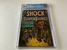 SHOCK SUSPENSTORIES 5 CGC 5.0 PRE CODE HORROR WOOD HANGING COVER EC COMICS 1952