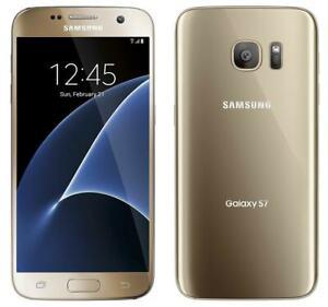 NEW GOLD PLATINUM SPRINT 32GB SAMSUNG GALAXY S7 SM-G930P PHONE JM25 B