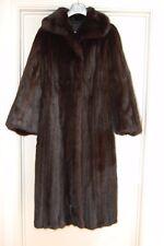NEW Long Dark Driclor Mink Coat with side pockets Size 10-12 D H EVANS/ HARRODS