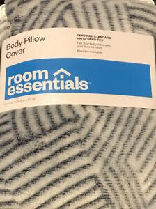 "Room Essentials Body Pillow Cover, Blue,  20"" x 50"" OEKO-TEX Standard 100, NEW"
