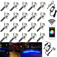 20X Smart Wifi 22mm 12V LED Deck Stair Step Lights Multicolor RGB Color Changing