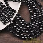 New 100pcs 4mm Round Glass Loose Spacer Beads Jewelry Findings Black