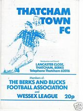 THATCHAM TOWN   V BOURNEMOUTH  WESSEX  LEAGUE   5/3/88