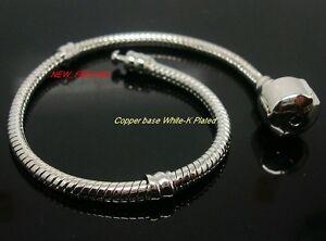 Fashion European Style Copper base White-K plated Snake Bracelet