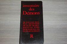 Inventaire des démons / Ed Robert Morel /Collection  R/  E2