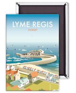 Lyme Regis Dorset by Dave Thompson fridge magnet(se)