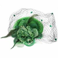 Hair Clip Headband Pillbox Hat Bowler Feather Flower Veil Wedding Party Ha Z7F5