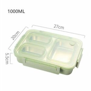Stainless Steel Leak Proof Thermal Bento Lunch Food Box Container Microwavable