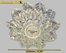 CHANDELIER BOBECHE DISH GLASS DRIP TRAY BOWL 26mm HOLE HANG CRYSTALS GLASS DROPS